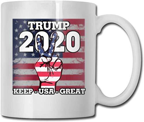 Trump 2020 - Taza de café (11 taza de café de cerámica, ideal como regalo para Navidad, San Valentín y cumpleaños, día del padre y día de la madre)