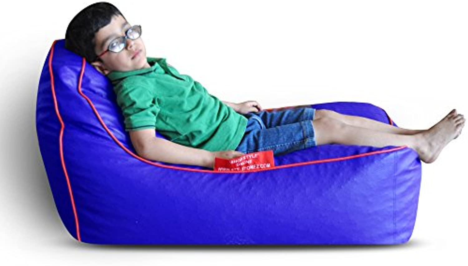 Style Homez Video Rocker for Kids bluee   Red Piping Cover Only