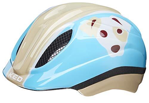 KED Meggy Trend - Casco de Bicicleta Niños - Beige/Azul Con