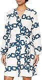 Morgan Robe imprimé chaîne RILOU Casual Dress, Ivoire, T44 Womens