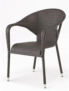 高級人工ラタン ガーデンチェア 椅子 Chair 手編み ウィッカー ガーデンファニチャー 1脚 (11DN-C) [並行輸入品]