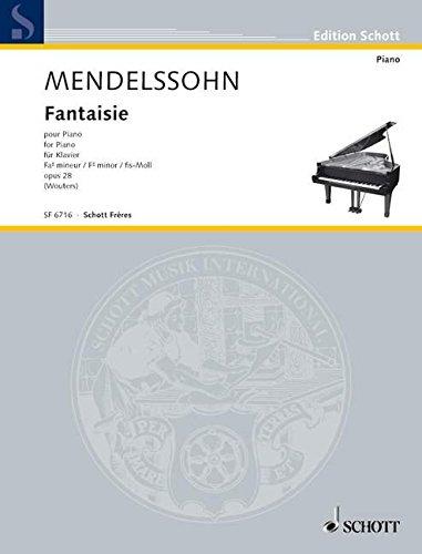 Fantaisie fis-Moll: op. 28. Klavier. (Edition Schott)