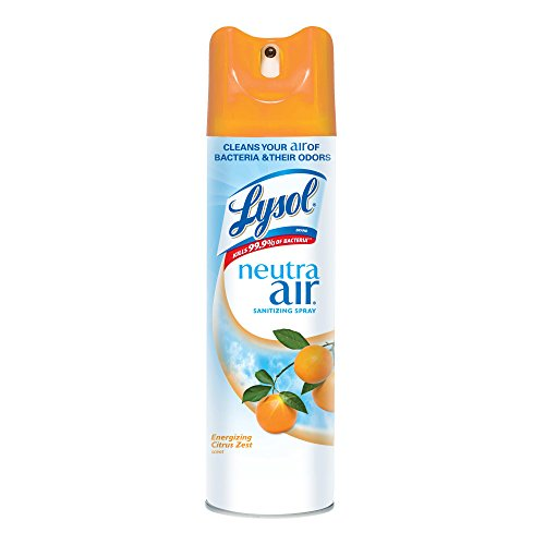 Lysol Neutra Air Sanitizing Spray, Energizing Citrus Zest, 120 oz. (Pack of 12 X 10 oz.), Air Freshener and Odor...