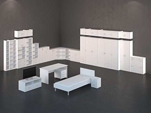 CS Schmal Regal | In Silbereiche | 37 x 194 x 26 cm | 74/74