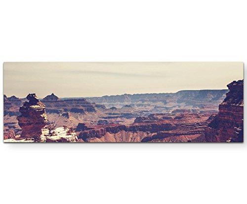 Paul Sinus Art Leinwandbilder | Bilder Leinwand 150x50cm wunderschöne Felsschlucht – Grand Canyon