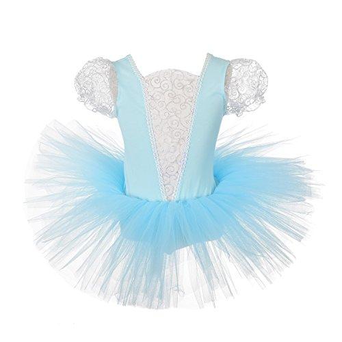 Lito Angels Principessa Cenerentola Tutu Ballerina Costume per Bambina, Vestito dal Balletto Danza Classica, Taglia 6-7 Anni, Blu