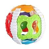 flybuild Bunte rassel Kunststoff Hand Glocke Grip Ball lustige Neugeborene Baby säuglingsspielzeug...