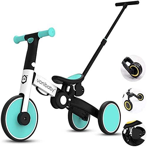 Trike triciclo triciclo para niños triciclo triciclo para niños, triciclo para niños, triciclo para niños de 1 a 6 años de edad, plegable, ajustable, cómodo (color: amarillo) triciclos f
