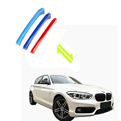 Jackey Awesome Exact Fit ///M-Colored Grille Insert Trims for BMW 2011-2017 BMW F34 3 Series Gran Turismo 3GT Hatchback Front Center Kidney Grill (for BMW 2011-2017 3GT, 9 Beams)