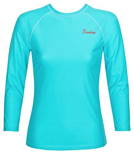Damen UV-Schutz T-Shirt UV Protect 80, Oeko-Tex 100 in türkis, Größe XXL