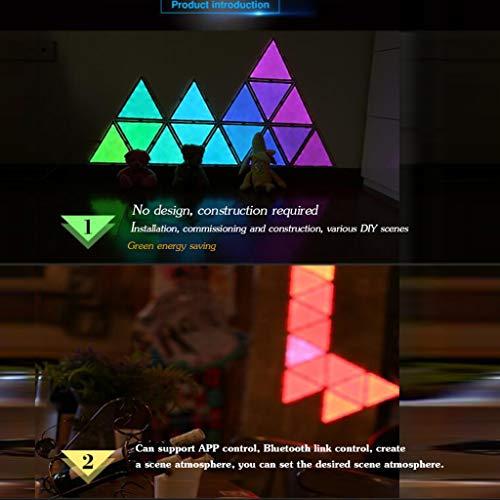 Wall lamp APP + Contrôle de la Musique, Lumières en nid d'abeille, Lumières modulaires de Bricolage, Assemblage créatif, Couture ambiante, 9 pièces, Lumières Bricolage Quantum,White,APPmusic
