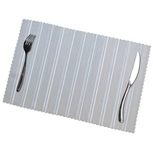Juego de 6 manteles individuales para exteriores, patrones de rayas simples y hermosos, manteles individuales para platos calientes, ollas, platos, cocina, comedor, mantel individual, 12 * 18 pulgadas