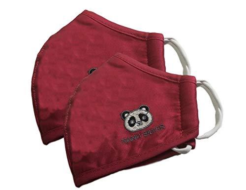 JaTop Maske Mund- Nasenschutz für Kinder waschbar Nano Technologie Doppelpack (rot Doppelpack Kinder)