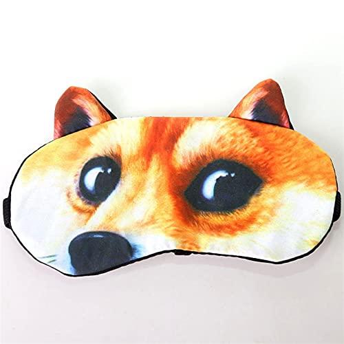 Xucage Máscara de ojos creativa 3D de dibujos animados animales para dormir, máscara de sombra de ojos, máscara de hielo para estudiantes hombres y mujeres, 3XL
