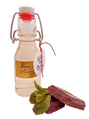 LUXUS Saunaaufguss Schoko-Minz-Bonbon, Saunaduft wird zum Erlebnis in der Sauna und Kombisauna, Duftkonzentrat, Aromatherapie, Aromaanwendung, Schokolade, Minze
