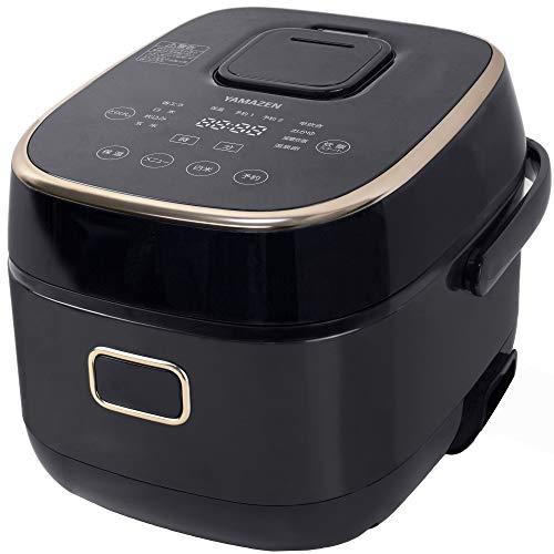 [山善] IH炊飯器 3合 糖質カット ダイエット 一人暮らし 8種類炊き分け機能 減糖モード 温泉卵モード タッチパネル 玄米 減糖 ブラック YJK-E30CC(B) [メーカー保証1年]