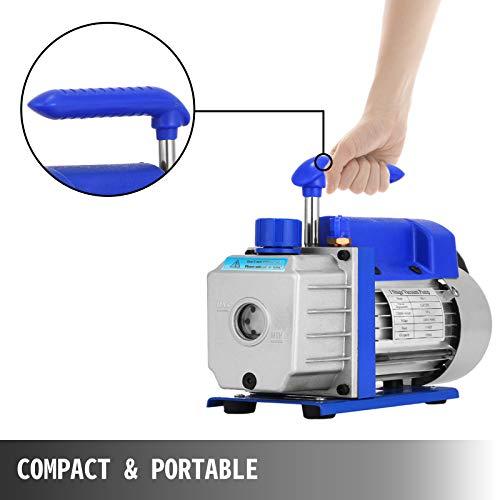 VEVOR 3CFM Vakuumpumpe Einstufige Unterdruckpumpe, 220 V Vakuumgeräte Pumpe für Klimaanlage