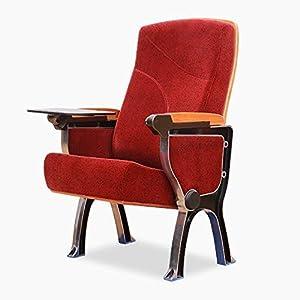 CTO Kinostuhl aus Aluminiumlegierung, Sitzreihe in der Kirche, Füße in U-Form, rot