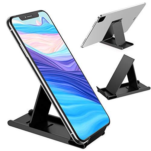 HAPAW Supporto Regolabile Telefono, Supporto per telefono per regolabile in alluminio compatibile con iPhone 12/12 pro mini/11 Pro/Xs Max/XR/SE, Huawei, Samsung A71 A51, ogni smartphone da 4-8 pollici