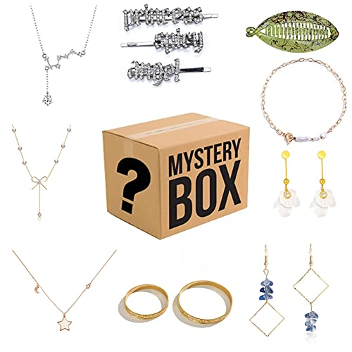 CLKE Surprise Mystery Box Lucky Boxes Mystery joyas Blind Box Oro Plata Diamante Collar Pulsera Anillo Pendientes Accesorios Exquisita Joyería