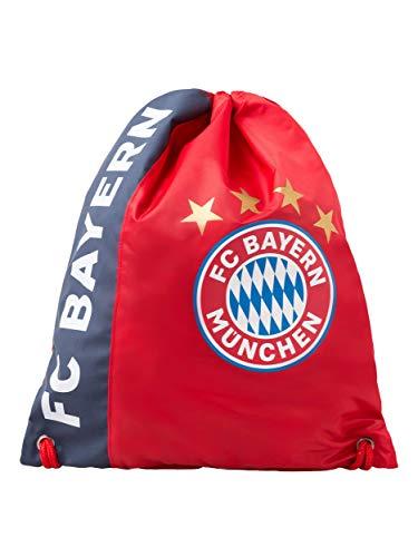 FC Bayern München Sportbeutel rot, Turnbeutel zum Umhängen mit FCB Logo