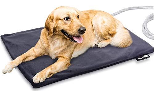 Pecute Haustier Heizkissen Heizmatte für Hund Katze Wärmematte Konstante Temperatur Sicher und wasserdicht Heizdecke Stoffbezug L(65 * 50cm)