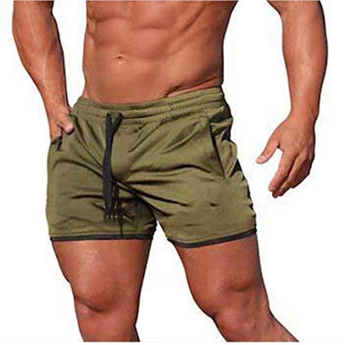 Odoukey Los nuevos Hombres de Fitness Culturismo Pantalones Cortos Hombre Verano gimnasios Masculino Entrenamiento de Malla Transpirable de Secado rápido de Deporte del Basculador Funcionamiento