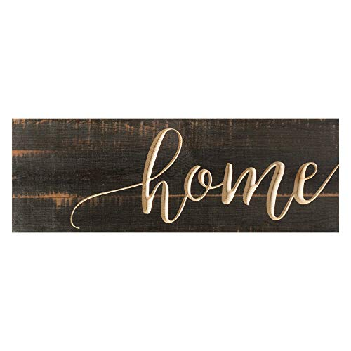 P. Graham Dunn Home Distressed Engraved 15.75 x 5.5 Inch Solid Pine Wood Plank Wall Plaque Sign