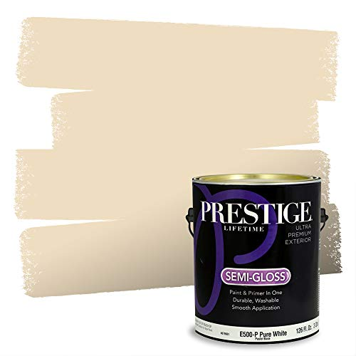Prestige Paints Exterior Paint and Primer In One, 1-Gallon, Semi-Gloss, Comparable Match of Sherwin Williams* Napery*