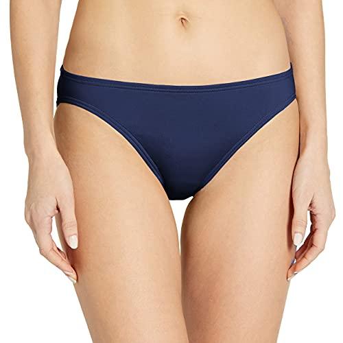 Vince Camuto Women's Standard Classic Solid Hipster Bikini Bottom Swimsuit, Surf Shades Deep Sea, Medium