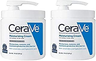 Cerave Moisturizing Cream With Pump For Normal To Dry Skin Value Pack of 2 x 19 Oz (Total 38 Oz)