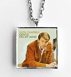 Album Cover Art Necklace Glen Campbell Gentle on My Mind