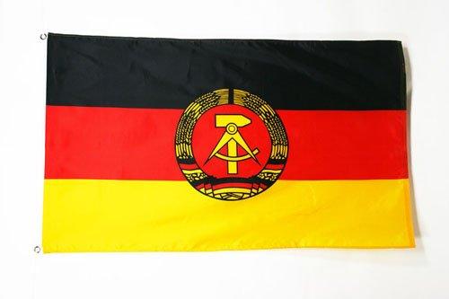 AZ FLAG Flagge DEUTSCHE DEMOKRATISCHE Republik 90x60cm - DDR Fahne 60 x 90 cm - flaggen Top Qualität