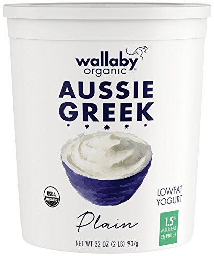 (NOT A CASE) Organic Aussie Greek Plain Lowfat Yogurt