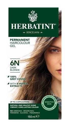 Novavis Tinte para cabello con extractos vegetales, 6N/Rubio oscuro, 135 ml