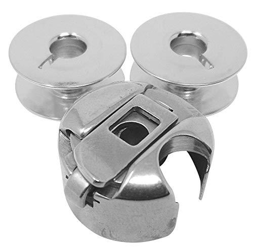 Spulenkapsel + 2 Metall Spulen für Veritas 8015/2, 8014/44xx u.v.m. Nähmaschinen