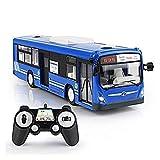 AoPong Modelo de juguete de autobús de control remoto Mini Die Casting Car 6 Canales Puerta ajustable puede abrir luces LED Juguetes para niños - Niño Niña en interiores jugando al aire libre