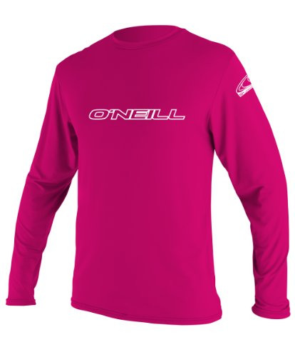 O'Neill Youth Basic Skins UPF 50+ Long Sleeve Sun Shirt, Watermelon, 6
