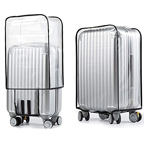 Emual Clear PVC Suitcase Cover Protectors 20/24/28 Inch Luggage Cover for Wheeled Suitcase (20''(13.4''L x 9.4'' x 18.5''H))