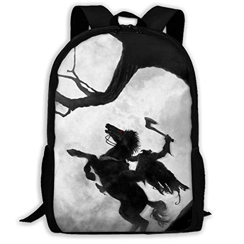 shenguang Sleepy Hollow Adult Travel Backpack Fits 15.6 Inch Laptop Backpacks School College Bag Casual Rucksack for Men & Women
