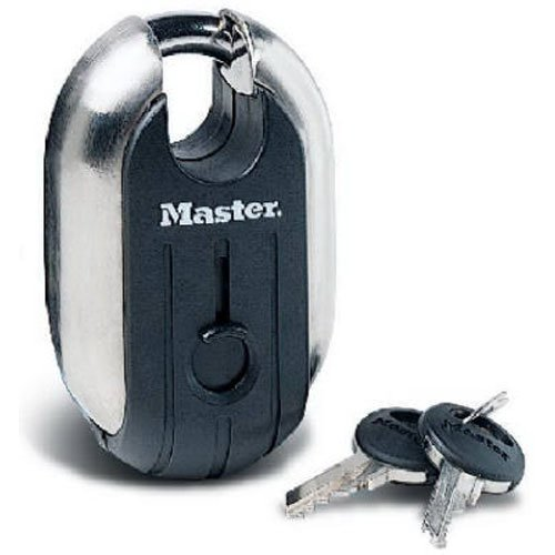 Master Lock Padlock, Titanium Series Stainless Steel Lock, 2-5/16 in. Wide, 187XD