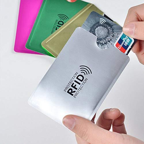 Elinala Funda Tarjeta Credito, Protectoras de RFID NFC, 21 PCS Multi-Color Unisex Tarjeta de Crédito y Tarjeta de IdentificaciÓN Protector Impermeable y Antirrobo