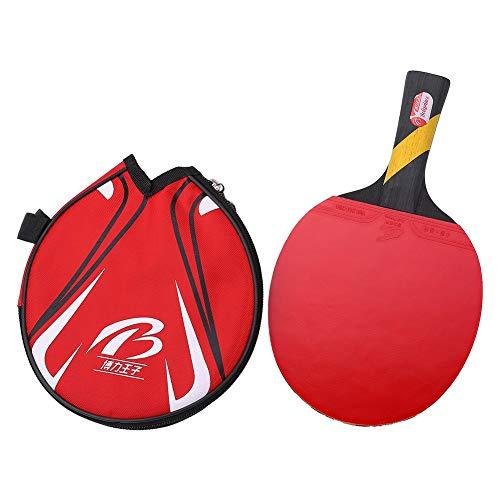 Fishlor Bate De Tenis De Mesa, Boliprince Profesional Ping Pong Bate De Paleta Durable Raqueta De Tenis De Mesa para Jugadores con EmpuñAdura