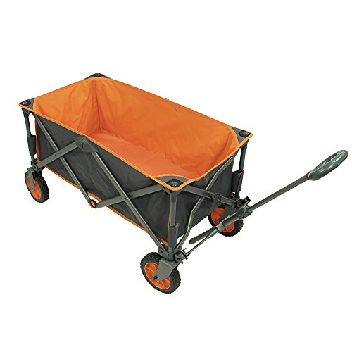 Photo of Portal Outdoors Unisex's Alf Folding Trolley Wagon, Strong Study Frame, 100kg Max Load, Perfect for Festivals/Camping, Orange, One Size