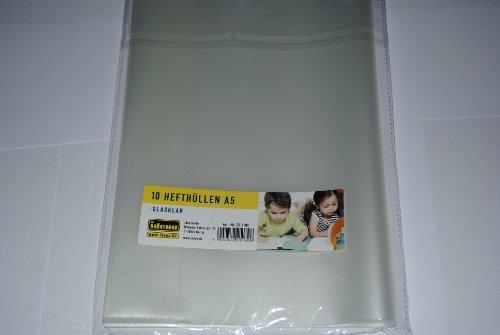 Idena 221180 - 10'er Pack Hefthüllen A5, transparent, farblos