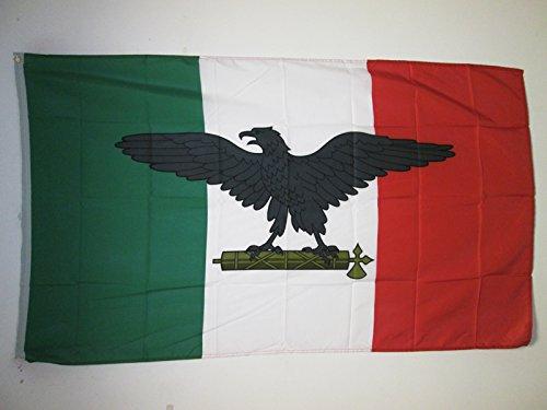 AZ FLAG Drapeau République Sociale Italienne RSI 150x90cm - Drapeau Italie fasciste 1943-1945 90 x 150 cm - Drapeaux