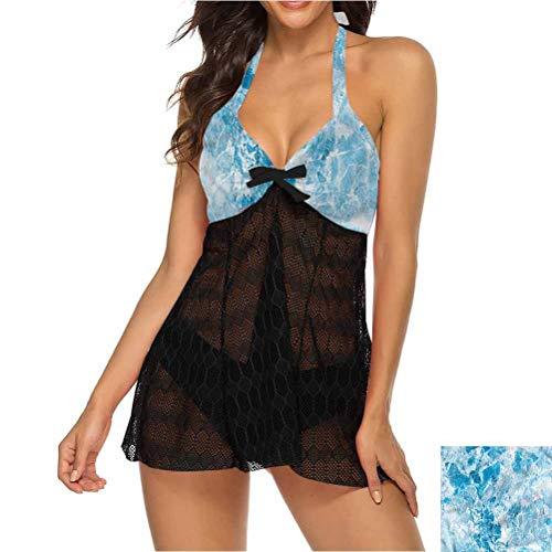 Tankini Swimsuit Marble Bathing Suit Dress Shady Rock Surface Pattern