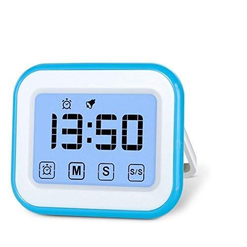 iPobie Temporizador de Cocina Digital, Despertador Digital de la Pantalla táctil, Reloj de Cuenta atrás magnético, Pantalla LCD Grande, Alarma Fuerte