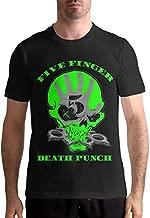 Denise K Steinbach Five Finger Death Punch T Shirt Men's Cotton Fashion Sports Casual Round Neck Short Sleeve Tees 3XL Black