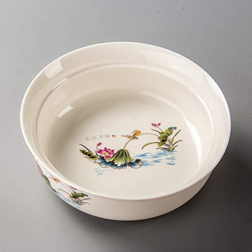 Ceramic Tea Wash Teezeremonie Tea Set Pen Wash Zubehör Große Teeschale QiuGe (Color : Dutch Rhyme)
